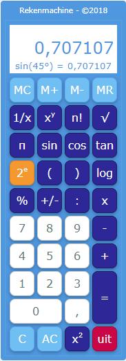 Muiswerk rekenmachine